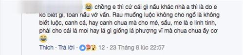 "nau rau cai voi nuoc luoc ga, vo bi chong hat do noi canh vi ""que anh chang nau the"" - 5"