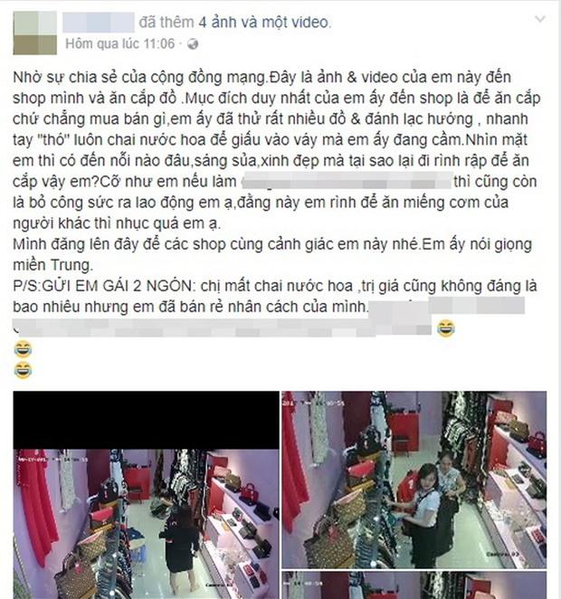 Clip gây bức xúc: Cô gái xinh đẹp đánh lạc hướng nhân viên bán hàng để lấy trộm chai nước hoa - Ảnh 2.