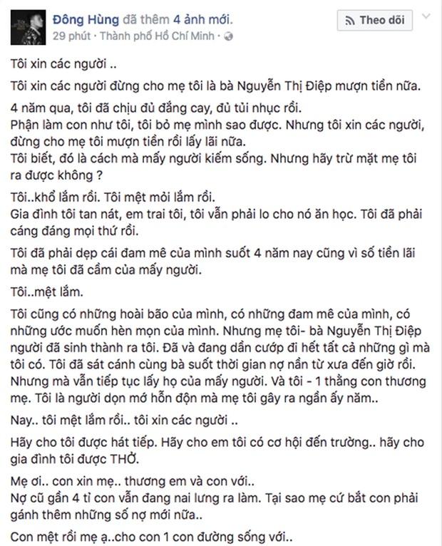 Top 3 Vietnam Idol 2014 Đông Hùng bị chém vì mẹ ruột gây nợ hàng tỷ đồng? - Ảnh 2.