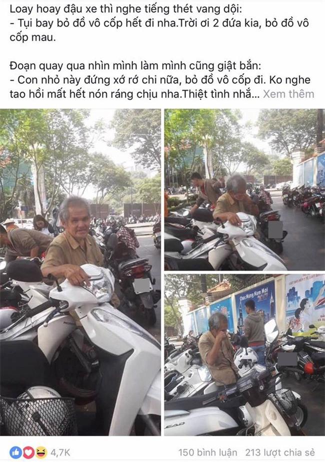 """Bác giữ xe ở Sài Gòn chuyên """"quát mắng"""" khách nhưng ai cũng thích được nghe - Ảnh 1."""