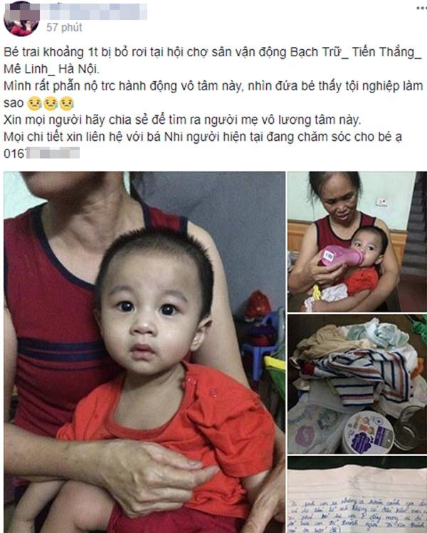 Hà Nội: Bé trai 1 tuổi bị bỏ rơi tại hội chợ kèm theo lá thư người mẹ để lại nói lời xin lỗi con - Ảnh 1.