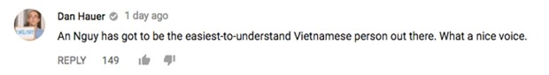 An Nguy làm vlog cho rằng không cần nói tiếng Anh chuẩn, thầy Dan Hauer bất ngờ để lại bình luận - Ảnh 3.