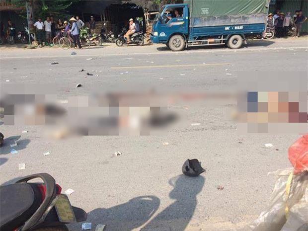 Hưng Yên: Bị cuốn vào gầm xe tải sau va chạm cực mạnh, 2 cô gái 14 tuổi tử vong tại chỗ - Ảnh 2.
