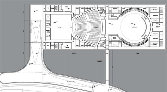Kích thước của khu vực chỗ ngồi chính sẽ nhỏ hơn nhiều so với một khán phòng cỡ lớn, điển hình như Bill Graham Civic Auditorium với 7.000 chỗ ngồi trong sự kiện ra mắt của iPhone 7.