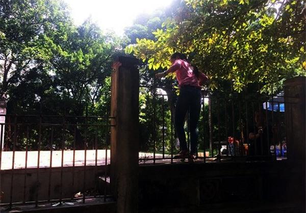 Hà Nội: Nhiều bậc cha mẹ trèo rào, trốn vé vào CV Thủ lệ ngày nghỉ lễ đầu tiên - Ảnh 7.