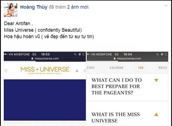 Bị chê không có vẻ đẹp hoa hậu, Hoàng Thùy lấy tiêu chí Miss Universe đáp trả anti-fan-3
