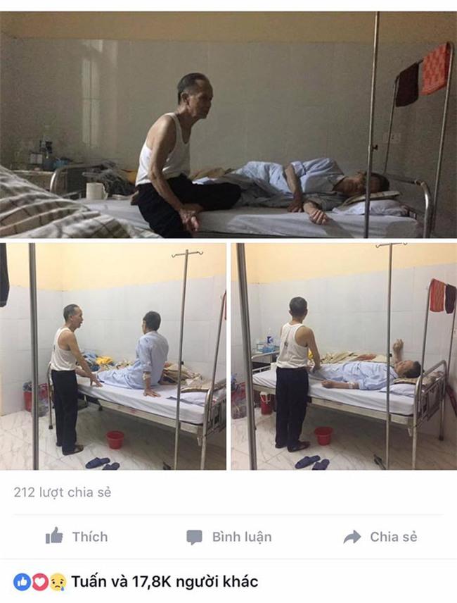 Cụ ông chạy xe 30km vào viện chăm anh trai 90 tuổi: Hình ảnh khiến bao trái tim thổn thức - Ảnh 2.