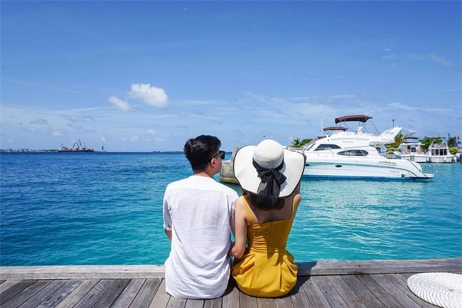 """Hường Chuối – Hotmom 9x cùng bạn trai giấu mặt ngao du """"Thiên đường Maldives"""" hết 85 triệu - Ảnh 6."""