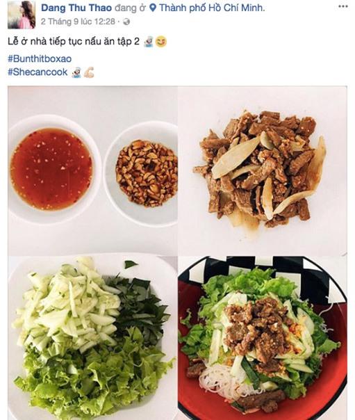 sap lay chong, hoa hau thu thao bong lien tuc khoe mam com tu nau - 2