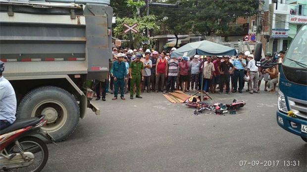 Đà Nẵng: Xe tải va chạm với xe đạp điện, nữ sinh lớp 8 chết thảm - Ảnh 1.