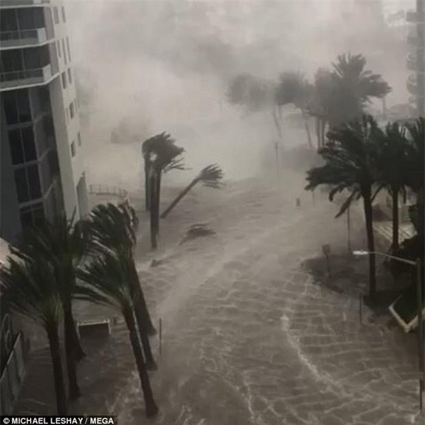 Khoảnh khắc đáng sợ: Người dân kẹt cứng khi nước lũ ngập ngang cửa nhà sau bão Irma - Ảnh 3.