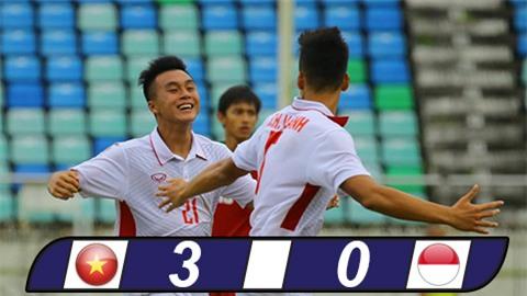 Đè bẹp Indonesia, U18 Việt Nam mở toang cửa vào bán kết U18 ĐNÁ