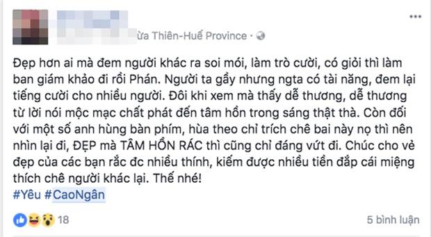 """cung canh ngo, le thuy len tieng bao ve cao ngan truoc """"dan bom du luan"""" - 8"""