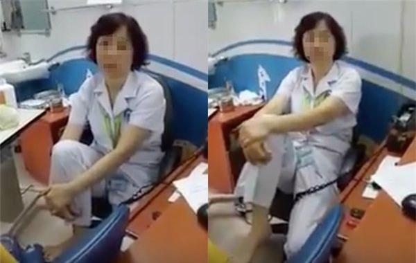 Bệnh viện Mắt trung ương, gác chân lên ghế, bác sĩ