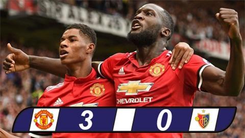 M.U thắng tưng bừng Basel ngày trở lại Champions League