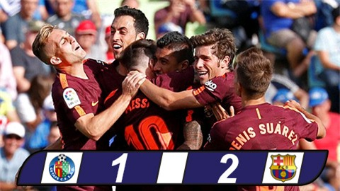 Paulinho giúp Barca ngược dòng thắng nhọc Getafe