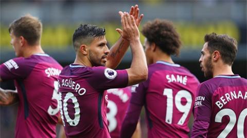 Man City có chiến thắng dễ dàng trên sân của Watford