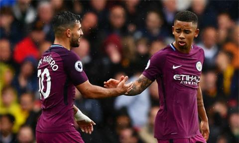 Aguero và Jesus khiến hàng thủ Watford tan hoang ở trận này