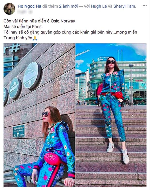 Kim Lý mang giày đôi, nói Cảm ơn em yêu bằng tiếng Việt với Hồ Ngọc Hà - Ảnh 1.