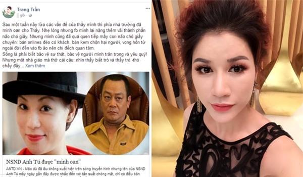 Trang Trần mỉa mai vợ Xuân Bắc tầm thường và mắng anti-fan là loại vong hồn-1
