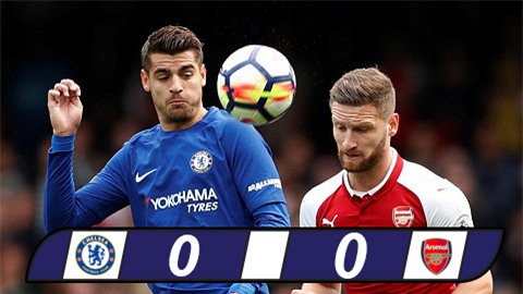David Luiz nhận thẻ đỏ, Arsenal hết dớp toàn thua Chelsea ở Stamford Bridge