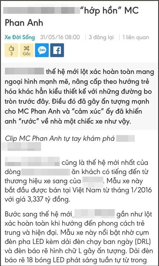 MC Phan Anh chụp màn hình những bài báo giới thiệu nhà và xe của anh được đăng tải trước khi kêu gọi quyên góp từ thiện ủng hộ đồng bào bão lũ miền Trung. - Tin sao Viet - Tin tuc sao Viet - Scandal sao Viet - Tin tuc cua Sao - Tin cua Sao