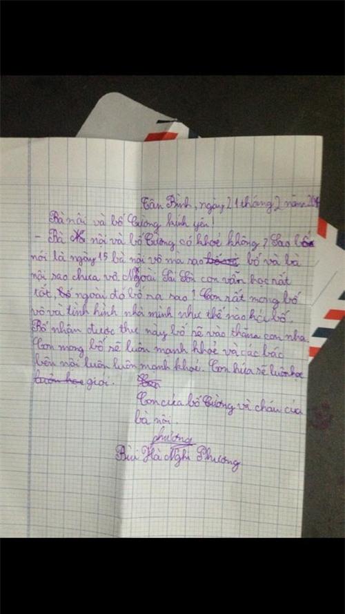 Bức thư bé Gà - con gái Phương Thanh viết cho bà nội và bố vào tháng 5/2014. - Tin sao Viet - Tin tuc sao Viet - Scandal sao Viet - Tin tuc cua Sao - Tin cua Sao