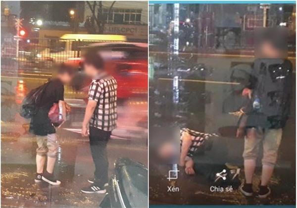 Cặp đôi dầm mưa trên phố Hà Nội gần 3 tiếng để...cãi nhau - Ảnh 2.