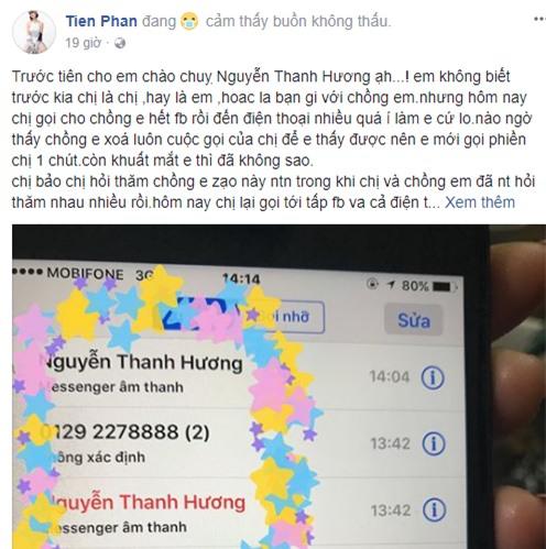 Phan Hương Người phán xử bị vợ ca sĩ Duy Khánh bức xúc tố cáo trên mạng xã hội - Ảnh 1.