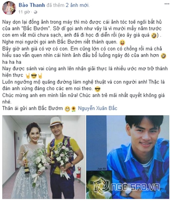 chuyện làng sao,sao Việt,Bảo Thanh,Xuân Bắc