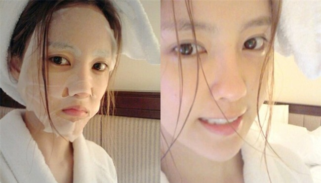 Loạt người đẹp Châu Á sử dụng mặt nạ giấy như 1 bước chăm sóc da hàng ngày - Ảnh 13.