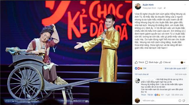 Nghệ sĩ Việt mỗi người mỗi ý khi nói về sự kiện vợ chồng Xuân Bắc bị chỉ trích ham danh-4