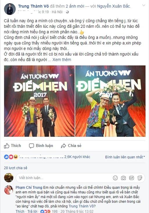 Nghệ sĩ Việt mỗi người mỗi ý khi nói về sự kiện vợ chồng Xuân Bắc bị chỉ trích ham danh-6