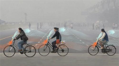 LẠ: Xe đạp tự hút khí ô nhiễm, nhả ra khí sạch - 1