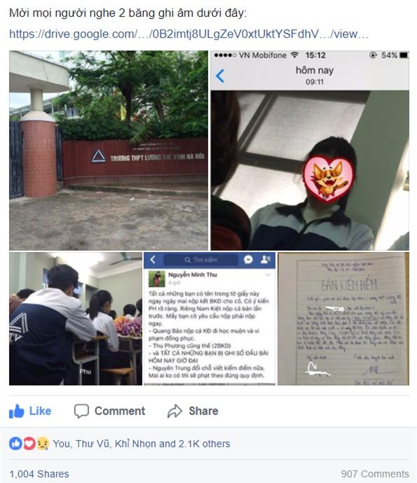 Tâm thư đang gây bão mạng của vị phụ huynh có con theo học tại trường Lương Thế Vinh - Ảnh 2.