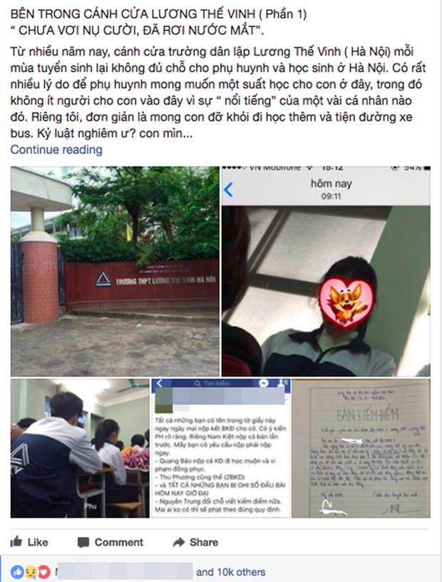 Phụ huynh tố trường Lương Thế Vinh lên mạng: Vừa viết vừa khóc vì quá thương bọn trẻ - Ảnh 1.