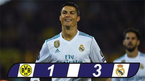 Ronaldo lập cú đúp, Real nhấn chìm chủ nhà Dortmund