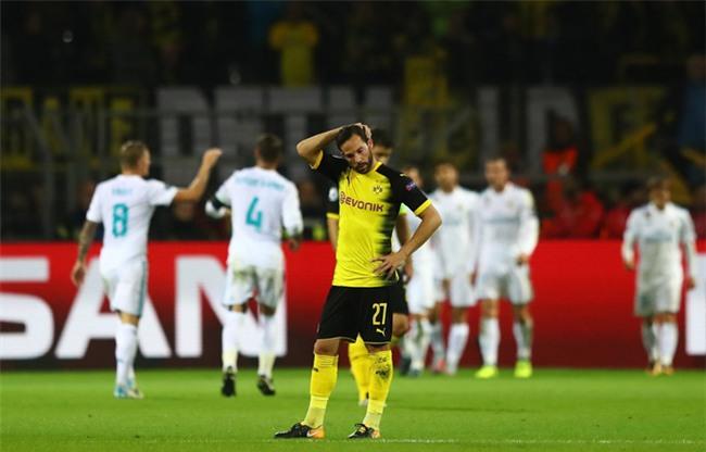 Sự thất vọng của các cầu thủ Dortmund sau 2 trận toàn thua