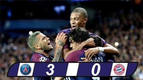 Bảng B Champions League: Tam tấu M-C-N thăng hoa, PSG thắng Bayern dễ dàng