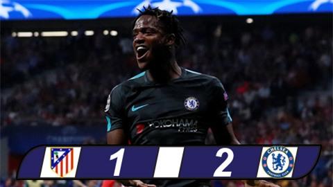 Bảng C Champions League: Batshuayi giúp Chelsea thắng ngược Atletico ở phút đá bù
