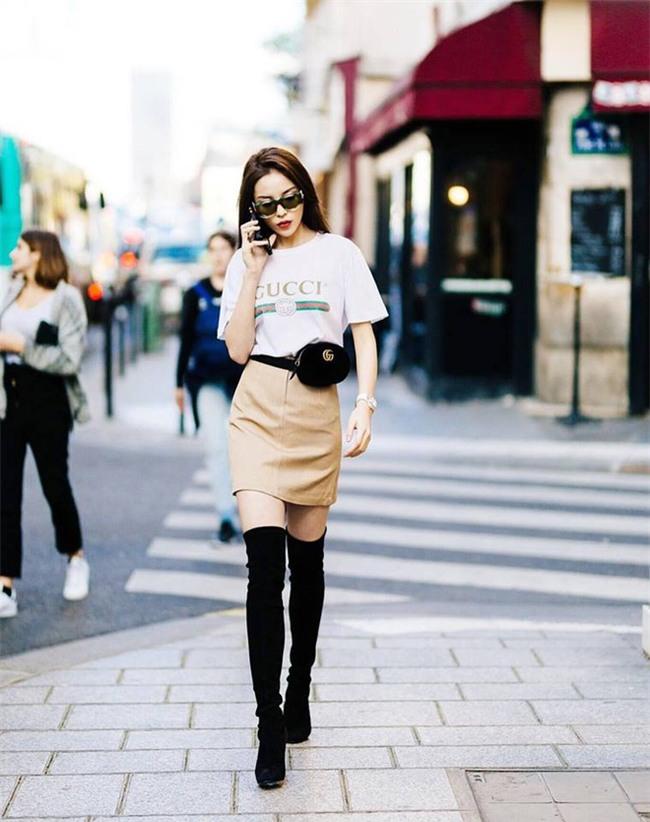 Chán trong nước, sao Việt sang hẳn trời Tây để đọ dáng street style - Ảnh 1.