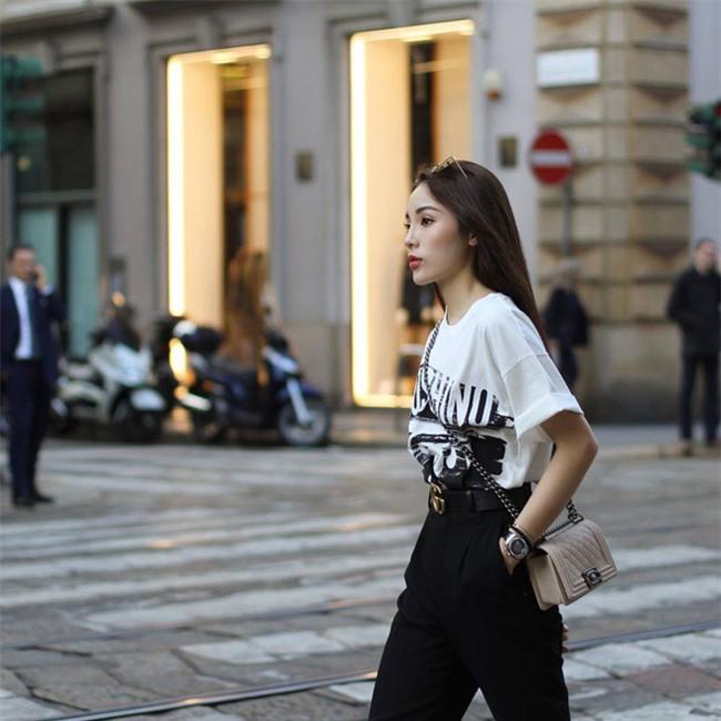 Chán trong nước, sao Việt sang hẳn trời Tây để đọ dáng street style - Ảnh 5.
