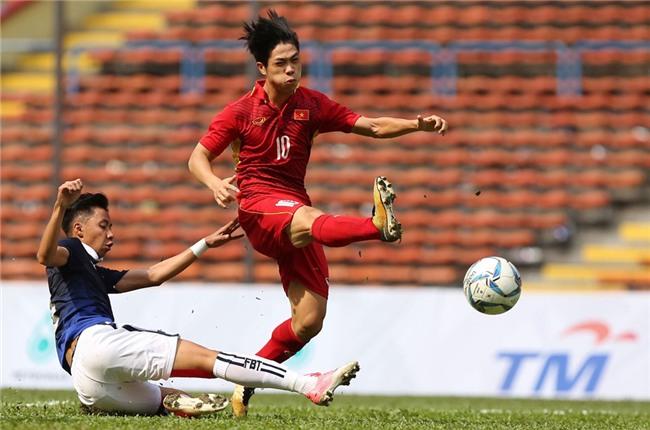 Ở trận lượt đi hôm 5/9, tuyển Việt Nam giành chiến thắng với tỷ số 2-1 trên sân khách Olympic.