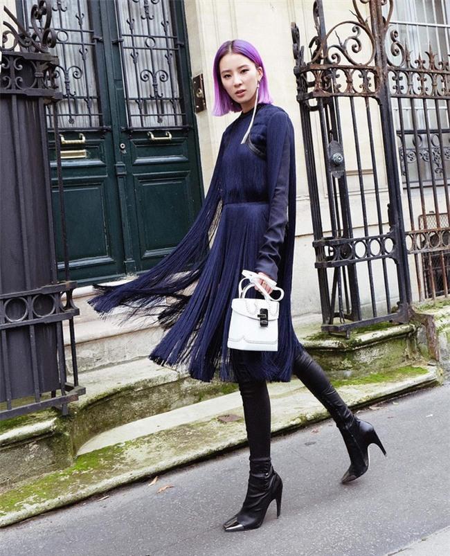 Ngắm loạt streetstyle siêu chất của quý cô châu Á khi đi dự Fashion Week - Ảnh 5.