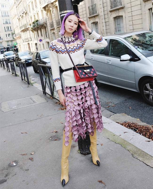Ngắm loạt streetstyle siêu chất của quý cô châu Á khi đi dự Fashion Week - Ảnh 6.