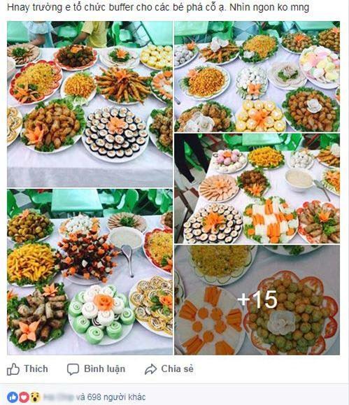 "mam buffet trung thu 45 mon cua cac be mau giao vinh phuc khien dan mang cung ""thom them"" - 1"