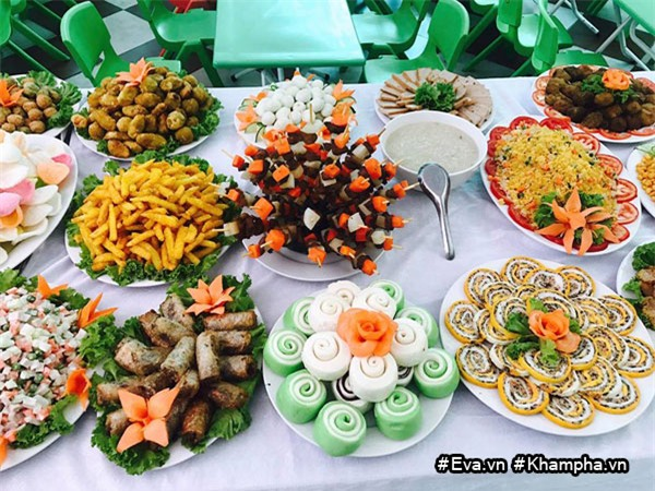 "mam buffet trung thu 45 mon cua cac be mau giao vinh phuc khien dan mang cung ""thom them"" - 17"