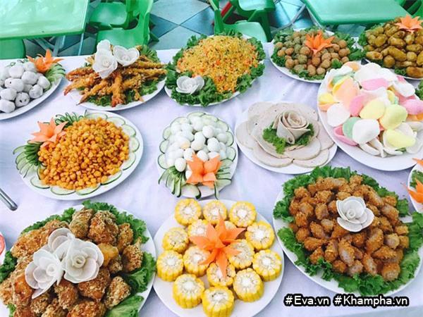 "mam buffet trung thu 45 mon cua cac be mau giao vinh phuc khien dan mang cung ""thom them"" - 5"