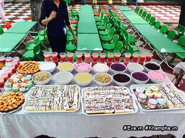 "mam buffet trung thu 45 mon cua cac be mau giao vinh phuc khien dan mang cung ""thom them"" - 8"