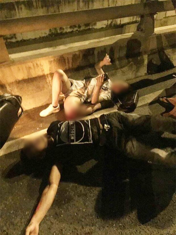 Hà Nội: Cô gái trẻ bị gãy gập chân vẫn bình tĩnh nằm bấm điện thoại sau va chạm giao thông - Ảnh 2.